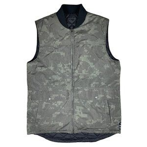 Analog Clothing Co. Black/Green Reversible Puffer